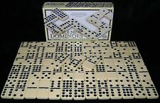 NEW DOUBLE NINE DOMINOES CLASSIC DOMINO SET WITH BRASS SPINNERS QUALITY HOM
