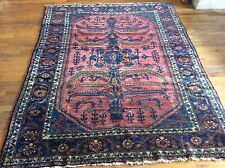 Authentic Antique Persian Oriental Rug Lilihan Design Wool Pile