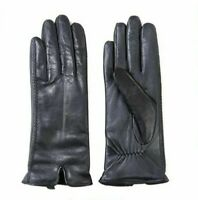 NEW!! Fownes Brothers Women's Black Warm Luxury Pile Lining Leather Gloves