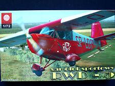 RWD-5 POLISH LIGHT TRAINER AIRCRAFT, ZTS PLASTYK, SCALE 1/72