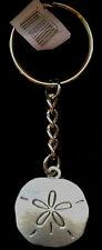 Sand Dollar Key Chain - Pewter Metal - Great Quality NWT!  Sea Shell Beach Theme