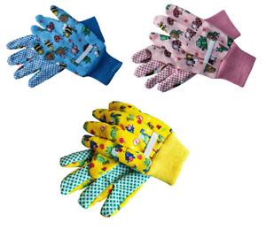 Kids Gardening Gloves Childrens Boys Girls Hand Protection Grip Outdoor Plant