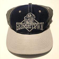 cheaper 29259 ac0b3 Vintage 90s Georgetown Hoyas Hat NCAA The Game Colorblock Snapback Cap RARE  Gem