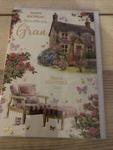Happy Birthday To A dear Gran Birthday Card