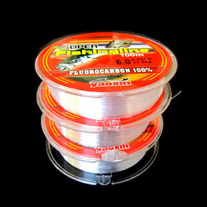 100% Transparent Nylon Fluorocarbon Fishing Lines Super Strong 100 M Fishing