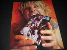 Ozzy Osbourne viciously biting video box Vintage Promo Poster Ad mint condition