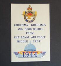 SCARCS VTG 1944 WWII R.A.F CHRISTMAS GREETING CARD -Omar Mosque