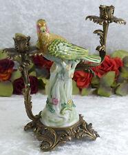 Porzellan Kerzenleuchter Vogel Leuchter Kerzenständer Bronze Kerzenhalter Deko