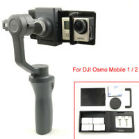 Adapter Switch Mount Plate Holder For GoPro Hero 6 5 DJI OSMO Mobile 2/1 Gimbal