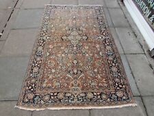 Shabby Chic Worn Antique Hand Made Traditional Oriental Red Wool Rug 200x127cm