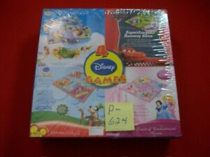 NEW DISNEY 4 IN 1 GAMES SEALED-TINKERBELL, CARS, MICKEY'S CLUBHOUSE & PRINCESS'