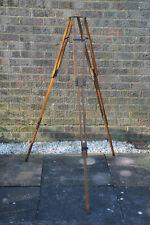Vintage Lightweight Mahogany Wooden Camera Tripod