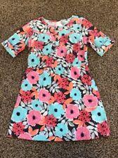 NWT GYMBOREE GIRLS ENCHANTED WINTER Floral Corduroy DRESS Mint Coral Size 7