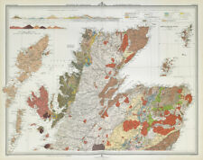 SCOTLAND Geological map - northern section. Sir Archibald Geikie. LARGE 1895