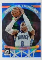 2017-18 Donruss Optic Swishful Thinking Blue Prizm Russell Westbrook #4, #'d/49