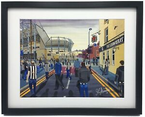 Newcastle United St James's Park High Quality Framed Art Print. Approx A4.