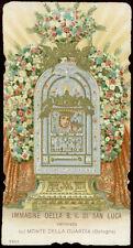 antico santino cromo-holy card MADONNA DI S.LUCA-BOLOGNA salvardi