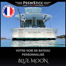Stickers Nom Bateau Personnalisé ref7; Autocollant Semi Rigide Voile Jet
