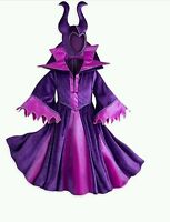 BNWT Girls Geniune Disney Store Maleficent Fancy Dress Costume Halloween Kids