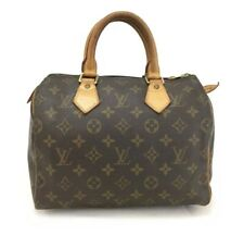 100% Authentic Louis Vuitton Monogram Speedy 25 Boston Travel Hand bag /u429