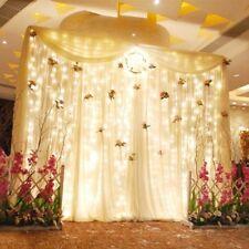 3*3M 300LED Warm White Mesh Net Curtain Fairy String Lighting Party Xmas Wedding