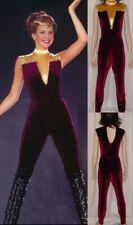 STAR TREK Dance Costume Super Hero Velvet Leotard and Long Pants Adult Small New