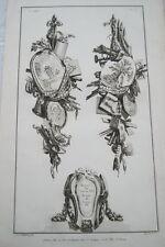 EAU FORTE JEAN CHARLES DELAFOSSE-VOYSARD REGNE DE LOUIS XIV-LOUIS XV -TROPHEES