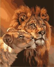 Paint By Numbers DIY Kit The Lion king Van-Go 40CMx50CM/16x20 Inch Canvas