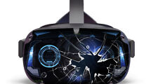 RP2broken vinyl skin that fits the Oculus Quest