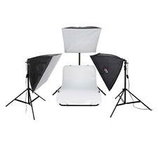 LIFE of PHOTO Aufnahmetisch-Set AT-4040-3 mit Softboxen 40x40 cm & 3x105 W Lampe