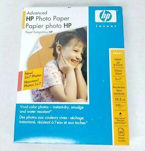 "HP Advanced Photo Paper 5"" × 7"" Glossy  Inkjet Borderless New Sealed Q8690A"