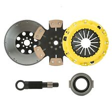 STAGE 4 SOLID CLUTCH KIT+FLYWHEEL fits 1999-2000 HONDA CIVIC Si DOHC VTEC by CXP