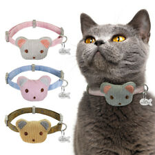 Customized Nylon Cat Collar with Bell Bear Anti Loss Engraved Fish ID Tags