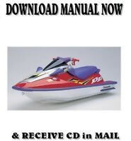 Kawasaki 1100STX / 1100ZXi Jet Ski factory repair shop service manual on CD