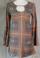 TMG New York Womens Long Flowing Tunic Top Stretchy Size M Long Sleeve