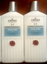 (2) Cremo 2 in 1 Shampoo & Conditioner Lot Fresh Citrus Blend 16 oz New