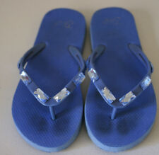 Gap Flip Flops GIRLS Youth 1 2 Blue Jewel GUC