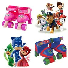 Childrens Adjustable Quad Roller Skates Skate Shoes PJ Masks Paw Patrol Shimmer