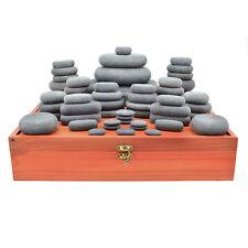 MassageMaster HOT STONE MASSAGE SET: 54 Basalt Stones for LaStone Therapy
