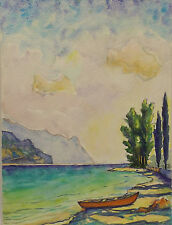 Künstlerische Malerei des Zeitraums 1950-1999 im Impressionismus-Papier