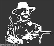 "Clint Eastwood Die Cut Decal Sticker 11.5""WX10.1""T- WHITE-Other Colors Available"
