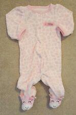 ADORABLE! CARTER'S NEWBORN TERRY CLOTH GIRAFFE FOOTED SLEEP N PLAY OUTFIT