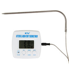 Digital LCD Kitchen Laboratory Thermometer & Timer + Probe with 95cm cable