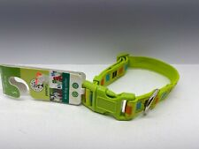 """Planet Petco Adjustable Striped Eco Dog Collar in Green Small 3/4"""" Width New"""