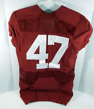 2016-18 Alabama Crimson Tide #47 Game Used Red Jersey BAMA00118