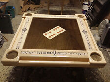 Domino Tables by Art with Beautiful Large Domino Inlay All Hand Crafted