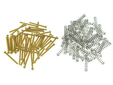 50x Imperial Humbucker Pickup Height Screws Springs for Gibson/EMG/Dimarzio
