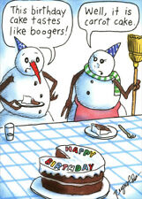 Snowman Boogers Recycled Paper Greetings Funny Humorous Birthday Card for Him