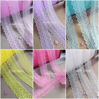 ***15 colours*** Lace ribbon trim sew on craft bows inch wide wedding jar cards
