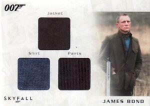 James Bond Autographs & Relics STC6 James Bond's Triple Relic Card